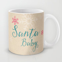 Santa baby Mug by Sylvia Cook Photography