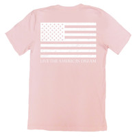 Pink 'Live the American Dream' Tee