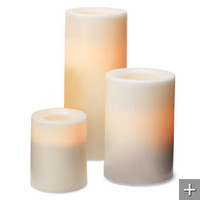 Battery-operated Outdoor Candle with Timer