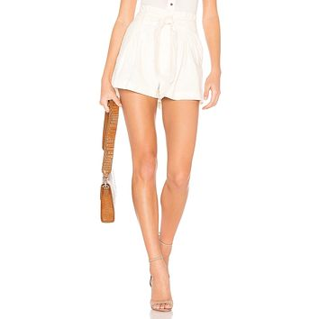 Free People Everywhere You Go Shorts Cream