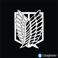 SHINGEKI NO KYOJIN ( ATTACK ON TITAN ) WINGS OF FREEDOM RECON CORPS ANIME DECAL STICKER