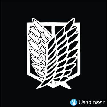 SHINGEKI NO KYOJIN ATTACK ON TITAN WINGS OF FREEDOM RECON CORPS VERSION 2 ANIME DECAL STICKER