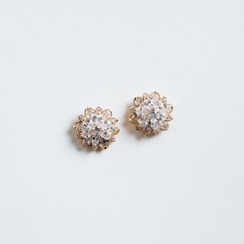 Lorna Crystal Flower Earrings