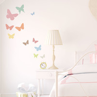 Pattern Butterflies Printed Wall Decal