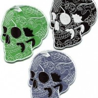 Lot of 3 Skull Tattoo Horror Biker Goth Punk Metal Appliques Iron-on Patches Handmade Fast Shipping with Special Gift