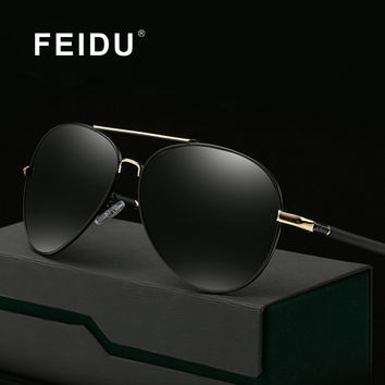 FEIDU Classic Polarized Sunglasses Men Brand Design Vintage Alloy Frame Sun glasses For Men Outdoor Sport Fishing Oculos De Sol