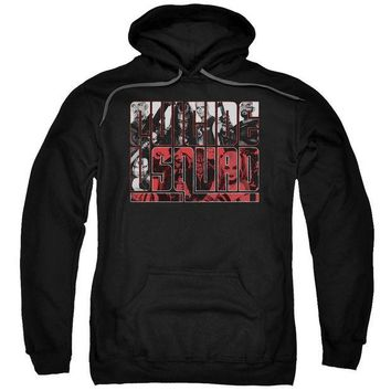 ac spbest Suicide Squad - Black And White And Red All Over Adult Pull Over Hoodie