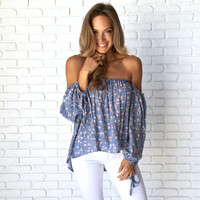 Flirty & Thriving Floral Blouse