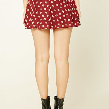 Floral Daisy Mini Skirt