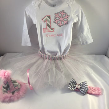 Girls 1st Birthday Outfit, Onederland Birthday, 1st Birthday, Cake Smash Outfit, Birthday Onsie, Birthday Tutu, Pink And Grey Birthday