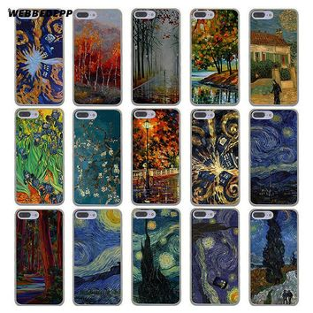 WEBBEDEPP Selling Doctor who van gogh tardis Hard Transparent Cover Case for iPhone 8 7 Plus 6 6s Plus 5 5S SE 5C 4 4S X/10