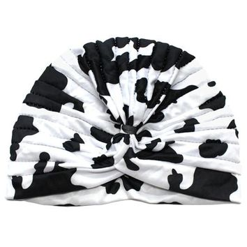 Deadstock Cow Print Hair Wrap