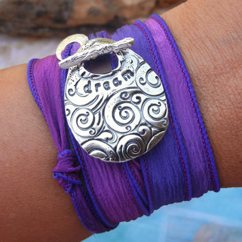 Teenager Silk Ribbon Wrap Bracelet