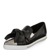 Miu Miu Leather Platform Skate Sneaker
