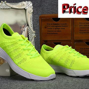 My style Nike HTM Flyknit Trainer+ Volt Lime Green 535089 770 shoes