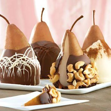 Gourmet Chocolate Covered Assorted Pear Gift