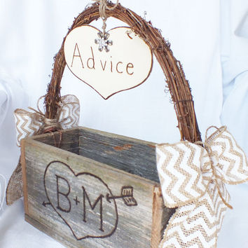 Advice For The Bride And  Groom With Chevron by ButterBeanVintage