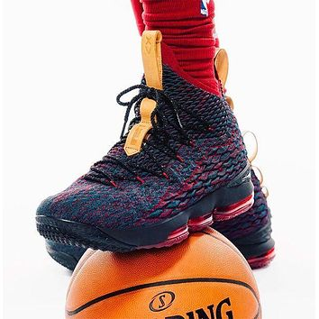 nike lebron 15 purple red men basketball shoes