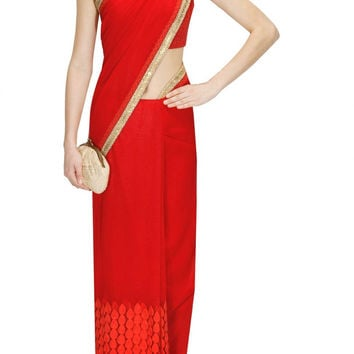 Red Colour Sabyasachi Saree