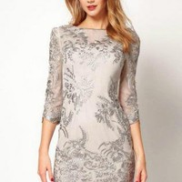 J-DN257 Lace Embroidery Dress