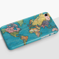 World Map Phone Case For iPhone 8 iPhone 8 Plus - iPhone X - iPhone 7 Plus - iPhone 6 - iPhone 6S - iPhone SE - Samsung S8 - iPhone 5
