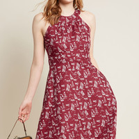 Mata Traders Got Something to Soothe A-Line Dress in Nautical
