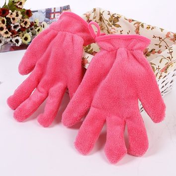 KESMALL 1 Pc Beauty Essentials Makeup Remove Glove Soft Gloves Portable Carry Make up Cosmetics Remover Towel Cloth CO937