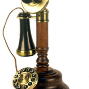 GEE805 Wood Candlestick Phone