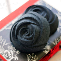 Black Rose Black Bath Bomb - Lavender, Chamomile, & Sweet Orange Essential Oils