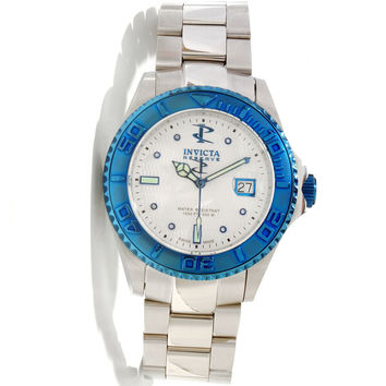 Invicta 11570 Men's Reserve Pro Diver Blue Bezel White Dial Stainless Steel Swiss Automatic Dive Watch