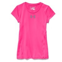 Under Armour Girls' UA HeatGear Armour Short Sleeve