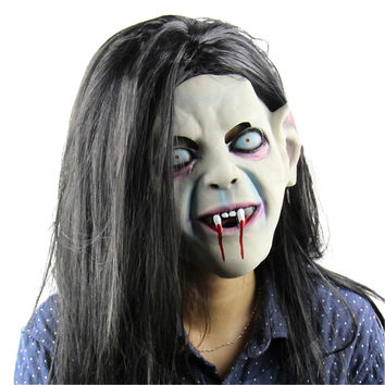 2016 Halloween Horror Masks Toothy Zombie Adult Costume Horror Latex Party Scary Mask Cosplay Prop Fancy Dress Decor NEW