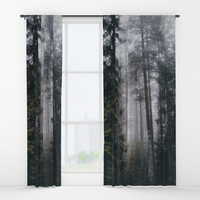 Into the forest we go Window Curtains by happymelvin