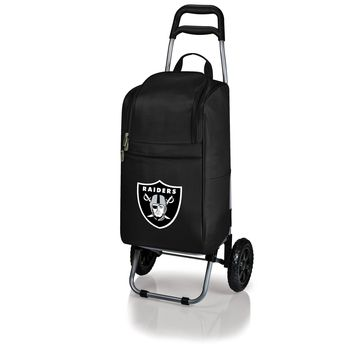 Oakland Raiders - Cart Cooler with Trolley (Black)
