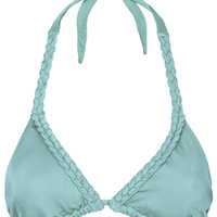 Aqua Plait Triangle Bikini Top