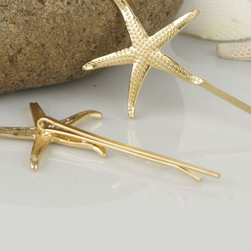 Fashion Starfish Shell Hairpin For Women