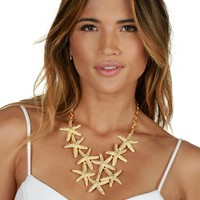 Gold Majestic Sea Star Necklace