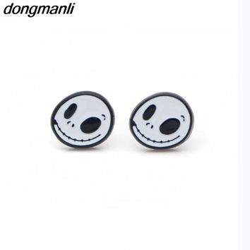P1258 Dongmanli Enamel Cartoon nightmare before Christmas Earings Cartoon Women Girl Children kids Lovely Gifts Ear Studs