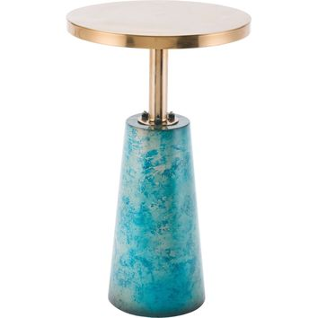 Teal Zaphire End Table