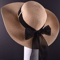 Floppy Hat with Black Bow