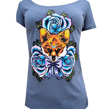 The Fox Scoop Neck Tee