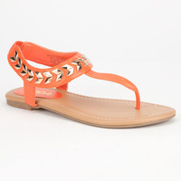 Soda Cooper Girls Sandals Orange  In Sizes