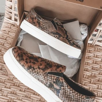 Desert Child Light Brown Snakeskin Sneakers