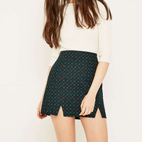 Urban Outfitters Notched Hem Geo Print Skirt - Urban Outfitters