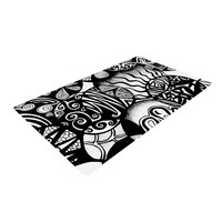 """Pom Graphic Design """"Circles and Life"""" Woven Area Rug, 4' x 6'  - Outlet Item"""