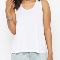 White Pleated Back Tank Top | Casual Tank Tops | rue21