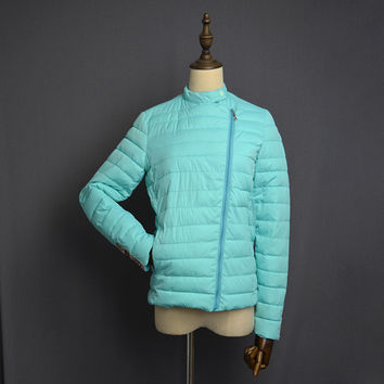 womens winter jackets and coats 3/4 sleeve solid color with crystal coat female