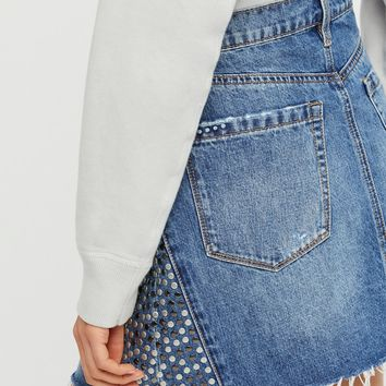 Free People Way Back When Denim Mini Skirt