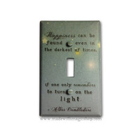 Turn On The Light Harry Potter Inspired Switch Plate by mwithm