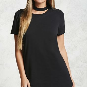 Choker T-Shirt Dress